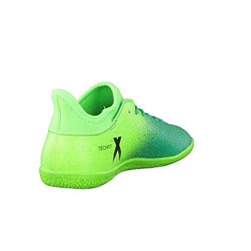 Adidas x 16.3in J–Chaussures montantes de fútbolpara enfants, vert–(Versol/negbas/verbas), 35