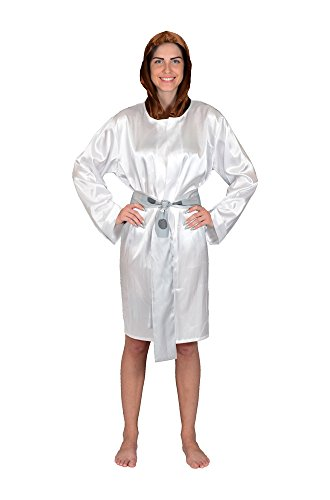 Robe Factory Women's Star Wars Princess Leia Satin Robe, White, OS -