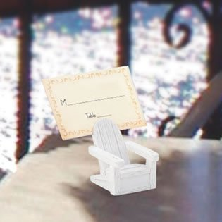 Beach Place Card Holders - Adirondack Chairs, 144 by Fashioncraft (Image #1)'