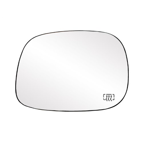(Fit System 33203 Dodge RAM 1500/2500/3500 Left Side Heated Power Replacement Mirror Glass with Backing Plate)