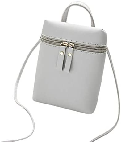 Black Gotd Womens Girls Crossbody Bag Shoulder Strap Leather Blocking Purse Credit Card ID Holder Clutch Organizers Passport Covers Case Zipper Messenger Coin Phone