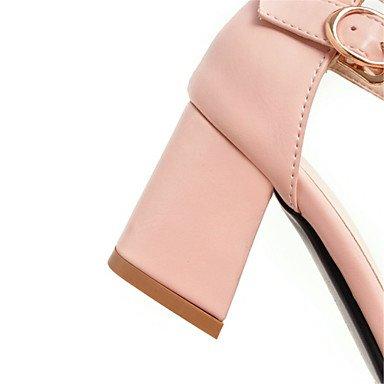 LvYuan Mujer-Tacón Robusto-Confort Innovador-Sandalias-Boda Oficina y Trabajo Vestido Informal Fiesta y Noche-Semicuero Purpurina Materiales Pink