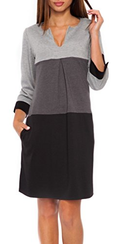Glamour Empire. Womens Jersey Colour Block Shift Dress with Pockets S-2XL. 303