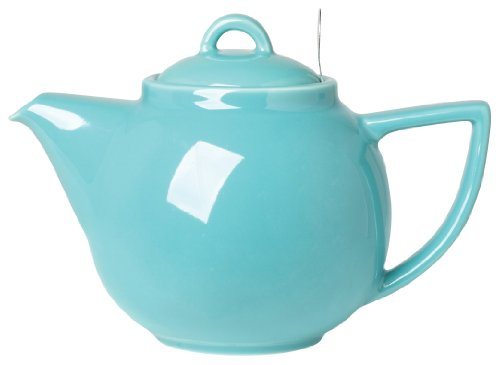 London Pottery Geo Teapot with Stainless Steel Infuser, 2 Cup Capacity, Caribbean Blue
