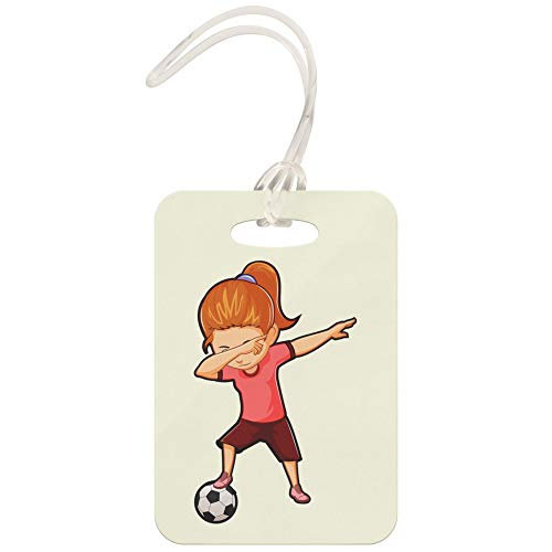 Tag Flyer Luggage (Soccer Girl Luggage Tag for Backpack Gym Bag, Dabbing Gifts for Soccer Lovers Football Players)