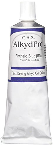 Fast Drying Oil Colors (C.A.S. Paints AlkydPro Fast-Drying Oil Color Paint Tube, 70ml, Phthalo Blue(RS))