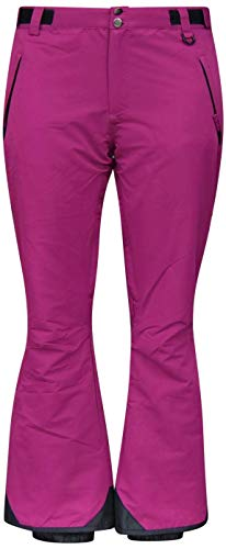Snow Country Outerwear Womens Plus Size Snow Skiing Pants (2X (20/22), Berry Wine)