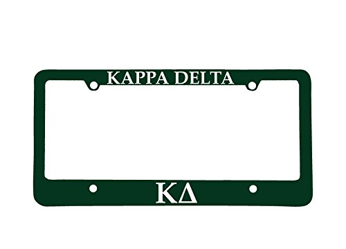 Officially Licensed Kappa Delta License Plate Frame - - Delta License Frame Plate