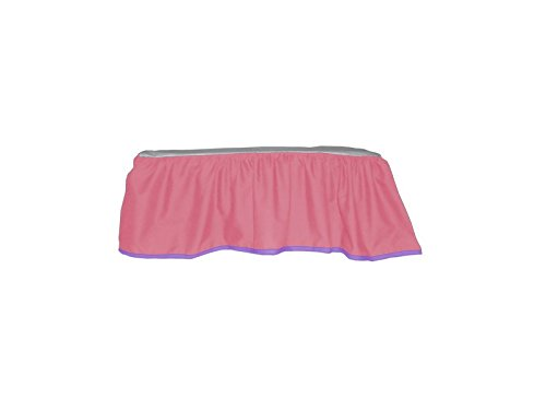 BabyDoll Solid Reversible Crib Dust Ruffle, Pink/Lavender baby doll bedding 500dr-pink/lav