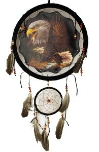 Indian Eagle (1 X 13in Two Eagles Double Dream Catcher Reproduction)