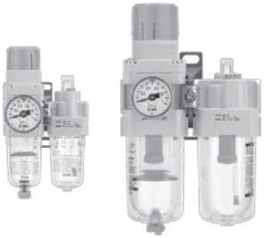 Two-Piece 1//2 BSPP Filter Regulator Lubricator Operating Pressure: 145 psi