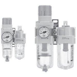 Two-Piece Operating Pressure: 145 psi Filter Regulator Lubricator 3//8 NPT