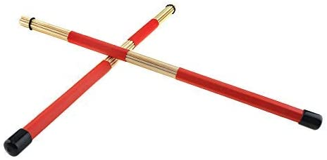 Perfect for Small Venue and Acoustic Wooden Rods Rute Jazz Drum Drumsticks Hot Rods Rute Jazz Drum Sticks Drumsticks OriGlam 2PCS H-RODS Hot Rods Drumsticks Red