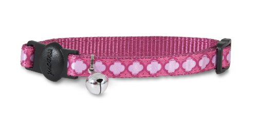 Petmate 11406 Cat Pet Collar, 3/8 by 8 to 12-Inch, Arabesque Pink