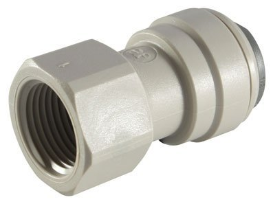(JOHN GUEST - 5/16OD TUBE X 1/2 BSP FEMALE ADAPTOR - BSPP Thread, Flat End (Push-in Fittings, Imperial) by John Guest )