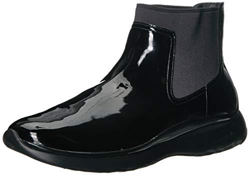 Cole Haan Women's 3.Zerogrand Chelsea Bootie Waterproof Boot, Black Patent, 7 B US (Cole Haan Short Boots For Women)