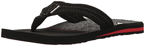 Quiksilver Men's Carver Suede Art, Black/Black/Red, 9(42) D US (Wrestling Red Arch)
