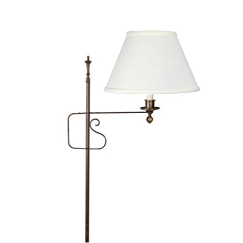 (Upgradelights 10 Inch Clip On Floor Lamp Shade Replacement in White Linen)