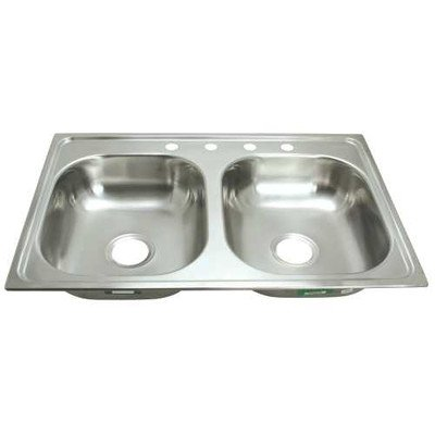 Pegasus PROPLUS GIDDS-2474252 4-Hole Double Bowl Kitchen ...