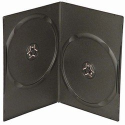 (100 Slim Black Double DVD Cases 7MM)