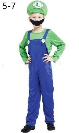 Krazy Toys Disfraz Luigi Niño (5-7 años): Amazon.es: Juguetes y juegos