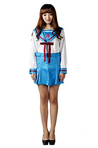 Mtxc Women's The Melancholy of Suzumiya Haruhi Cosplay School Whiter Uniform