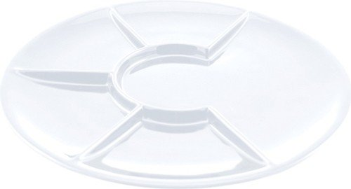 Swissmar F66105 Round Raclette/Fondue Plates, White, Set ...