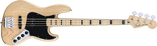 Active Jazz Electric Bass (Fender Deluxe Active Jazz Bass, Maple Fingerboard, Natural)