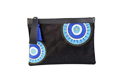 Evil Eye Embroidery Black...