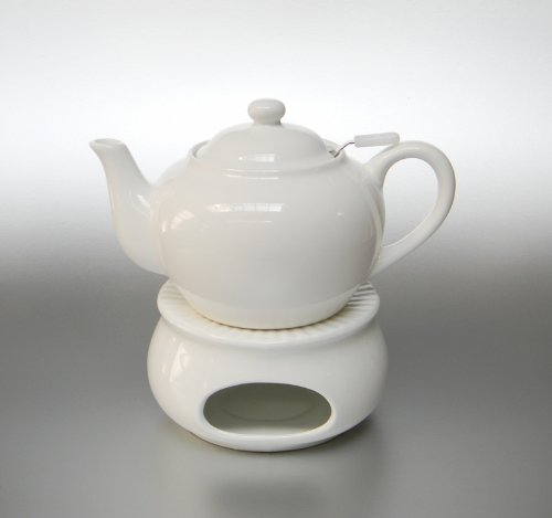 Tee Set / Teekanne mit Stövchen aus Porzellan (NYH-8309/NYH-8536/4,5 ...
