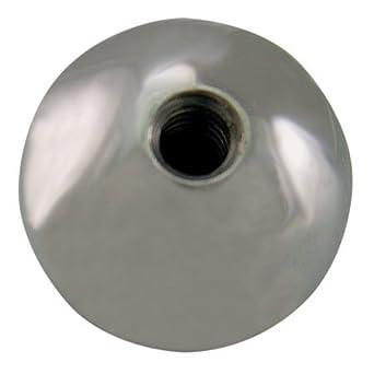 """Ball Knob 1-5//8/"""" D Black 5//16-18 Steel Insert Thermoplastic Texture Handle L31"""