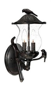 (Acclaim 7551BC/SD Avian Collection 2-Light Wall Mount Outdoor Light Fixture, Black Coral)