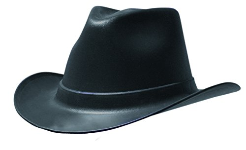 Hat Hard Western - OccuNomix VCB100-06 Cowboy Style Hard Hat with Squeeze Lock Suspension, One Size Fits Most, Black