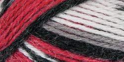 "Mary Maxim Natural Alpaca Tweed Yarn ""Red Stripe"" | 4 Medium Worsted Weight Yarn for Knit & Crochet Projects | 77% Acrylic, 20% Alpaca, 3% Viscose| 4 Ply - 262 -"