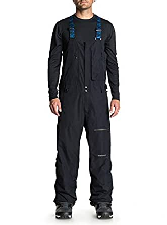 Quiksilver Men's ALTOSTRATUS 2L Gore-TEX BIB Snow Pants, Black, S