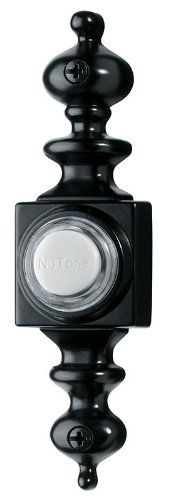 (NuTone PB4LBL Wired Lighted Door Chime Push Button, Black)