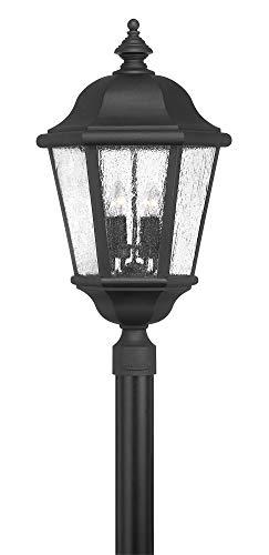 Hinkley Lighting Edgewater Outdoor Light - Hinkley 1677BK-LL Edgewater - Four Light Outdoor Post Mount, Choose Lamping Option: 5W LED Candelabra Base