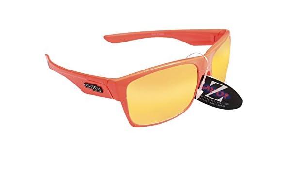 Rayzor - Gafas Naranja Deportes Wrap ciclismo Gafas de sol, con una naranja iridio Espejo antideslumbrante lente: Amazon.es: Deportes y aire libre