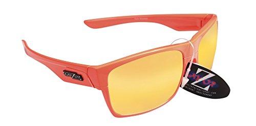 RayZor Professional Lunettes de soleil protection UV400pour Sport Randonnée Orange, ultra léger avec un miroir orange en iridium anti-reflets Objectif