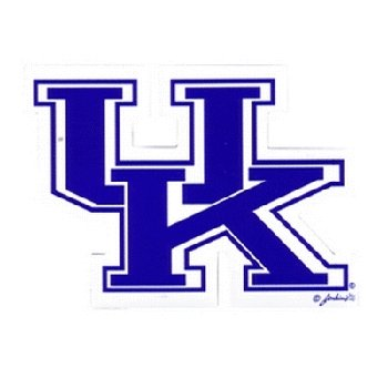 NCAA Kentucky Wildcats Car Magnet ''UK'' (Small, 2 Pack) by Game Day Outfitters