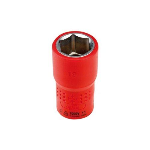 Alyco 190319 - Llave de vaso aislada 1000V VDE EN-60900 de 1/2' 19 mm