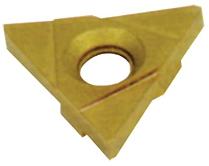 1//16 Cutting Width Cobra Carbide 43955 On-Edge Solid Carbide Grooving Insert 0 Degrees Lead Angle TNMA Style Pack of 10 CM02 Grade