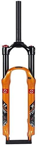 "CFJJOAT 自転車フロントフォーク26""27.5インチ29er MTBサスペンションフォーク、空気システム効果的な衝撃トラベル:120mm、ために160-180mmディスク (Color : Black, Size : 27.5 inches)"