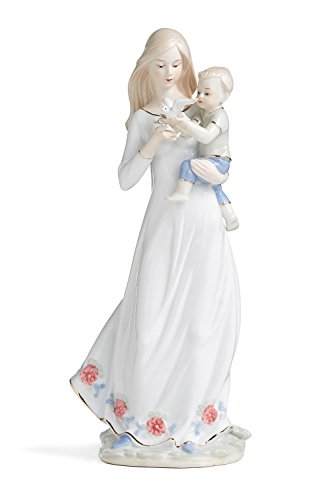 Mother Son Statue (Mother and Son Figurine Lady Carrying Child Statue Vintage Porcelain Figure 16