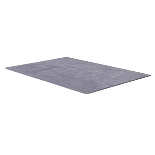 (Rugs Silver Grey Rectangle Door Mats Anti Slip Rugs 13 Sizes Hotel Home Living Room Floor Carpets for Bedroom)