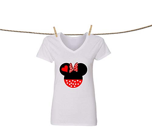 41f66337 Natural Underwear Disney Mickey Mouse and Minnie Mouse V Neck T-Shirts for  Women