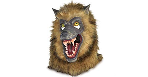 Amscan Brown Werewolf Mask Halloween Costume Accessory, One Size -