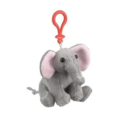 Elephant Plush Elephant Stuffed Animal Backpack Clip Toy Keychain Wildlife Hanger by Wildlife Artists: Toys & Games