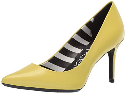 Calvin Klein Women's Gayle Pump, Lime Kid Skin/Stripes, 8.5 M US