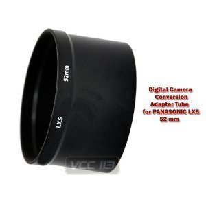 Bower AFZPLX5 Panasonic FZ-LX5 52 mm Adapter Tube (Black)